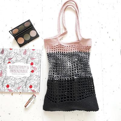 Portobelloknit French shopping bag Modern marbel